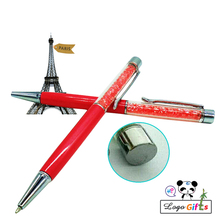 NEW cute diamond pen with metal head 10colors to custom free your name/email/art special for birthday party 100pcs a lot