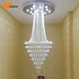 Image 1 - עגול עיצוב מודרני נברשת קריסטל LED אור AC110 220V יוקרה קריסטל תקרת נברשת בית תאורה