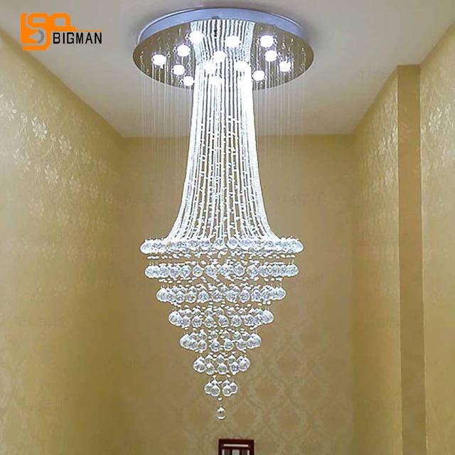 עגול עיצוב מודרני נברשת קריסטל LED אור AC110 220V יוקרה קריסטל תקרת נברשת בית תאורה