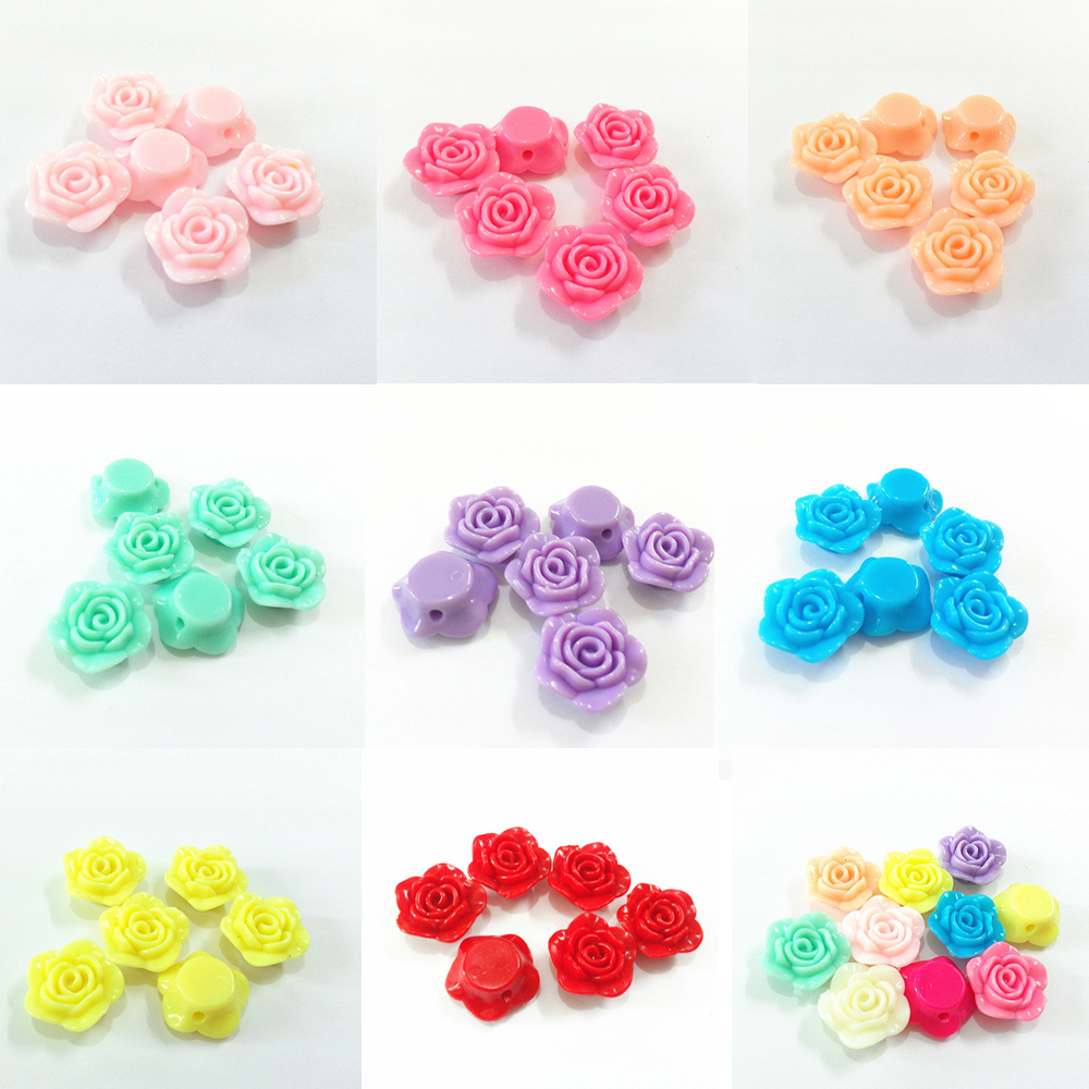 Wholesale ! 20mm 330pcs/bag Acrylic Rose Flower Chunky Beads (Have Hole)