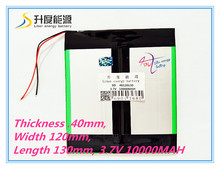 "3.7V 10000mAH 40120130 (Real Capacity) Li-ion battery Battery Cell for 9.7"" 10.1"" Ainol Spark,CHUWI V99 Tablet PC 4.0*120*130mm"