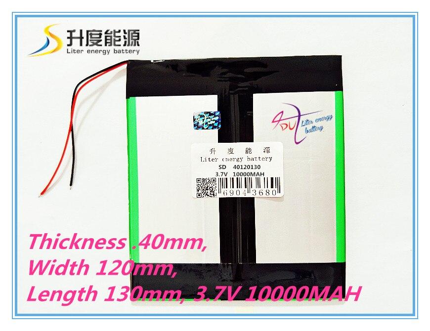 3 7V 10000mAH 40120130 Real Capacity Li ion battery Battery Cell for 9 7 10 1