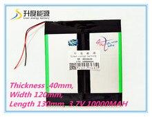 "3.7 V 10000 mAH 40120130 (Capacidad Real) Célula de La Batería li-ion para 9.7 ""10.1"" Ainol Spark, CHUWI V99 Tablet PC 4.0*120*130mm"