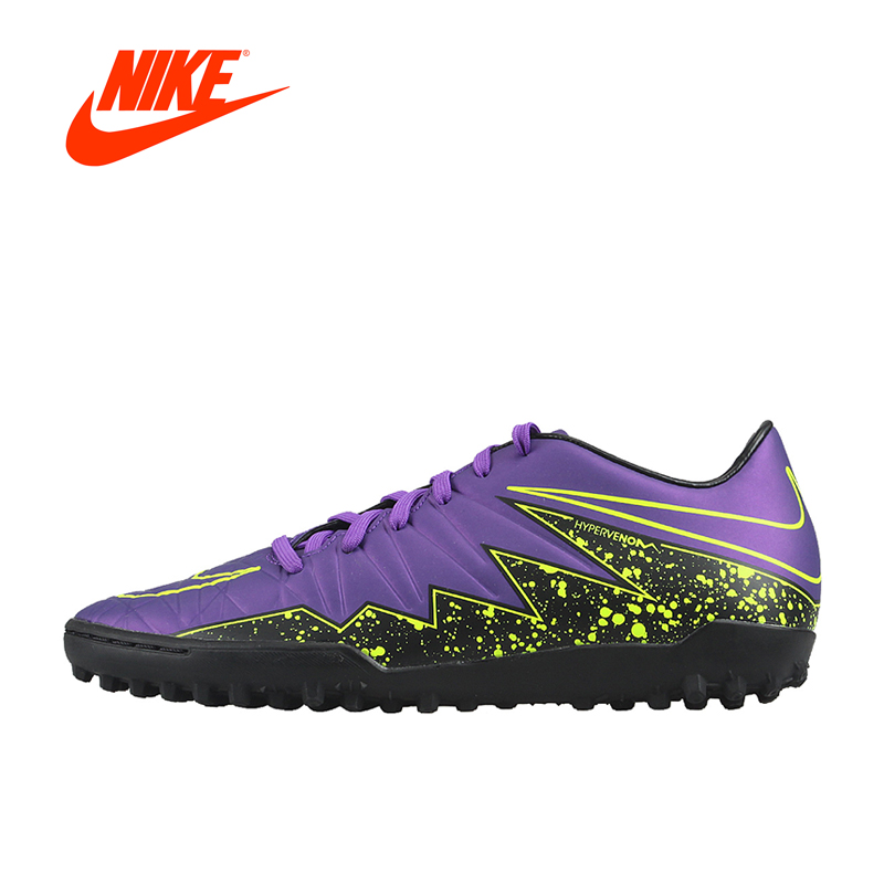 Original New Arrival Official NIKE HYPERVENOM PHELON II TF Men's Football Soccer Shoes Sneakers tiebao a13135 men tf soccer shoes outdoor lawn unisex soccer boots turf training football boots lace up football shoes