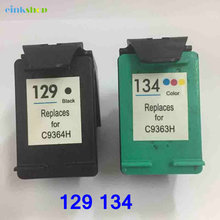 For HP 129 black ink cartridge for hp 134 Cartridge for HP DeskJet 5940 5943 6940 6943 6983 Photosmart 2570 2573 for hp 129 134 hp photosmart 7520 black ink cartridge oem 250 pages