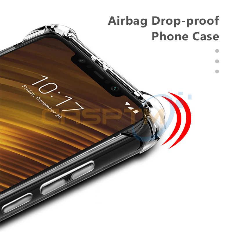 CASPTM dla Xiao mi czerwony mi 5 Plus uwaga 6 Pro 6A telefon obudowa do Xiaomi mi A2 8 Lite SE A1 pocophone F1 miękka TPU-spadnie z powrotem pokrywa