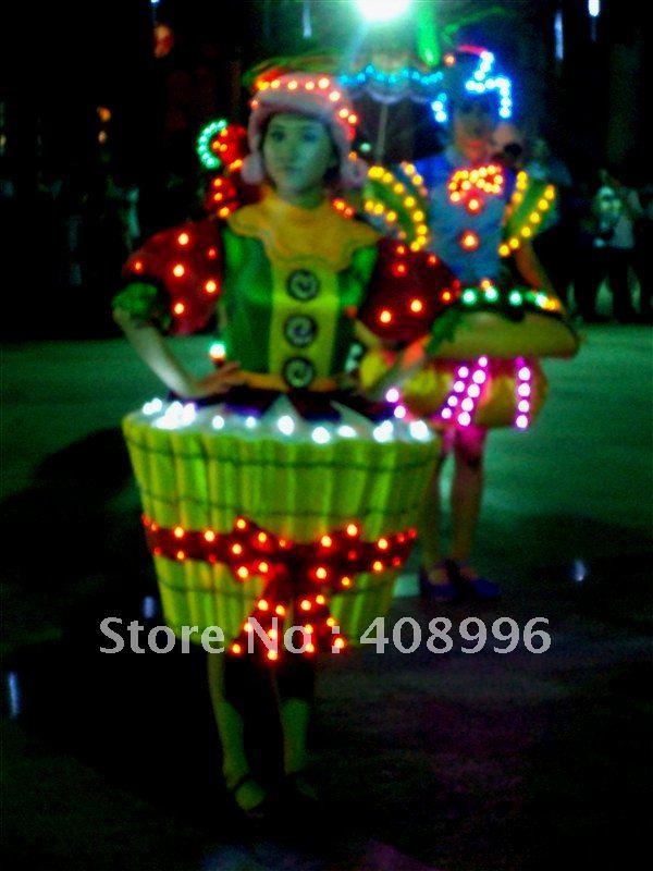 LED световой платье для производительности/карнавал платье/Light-Up костюмы/парк развлечений серии 03