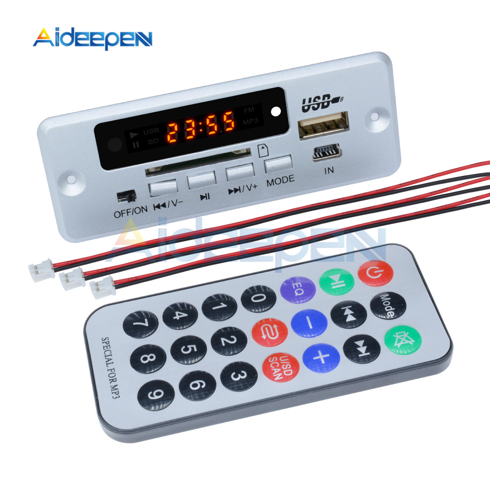 Image 3 - Mini 5V MP3 Decoder Board Bluetooth Call Decoding Module MP3 WAV U Disk & TF Card USB With 2*3W Amplifier Remote Controller-in Instrument Parts & Accessories from Tools