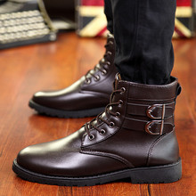 YEALON Leisure Martin Boots England Retro Shoes For Mens Brand Super Warm Men's Winter Leather Men Waterproof Rubber Snow Boots