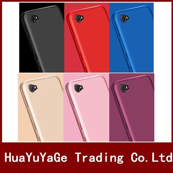 Téléphone Cas X-Niveau Soyeux TPU Mat Ultra mince retour cas Anti-chute antichoc couverture pour Vivo V5 Y67 Y53 Y55 V5 Plus X9/X9 Plus