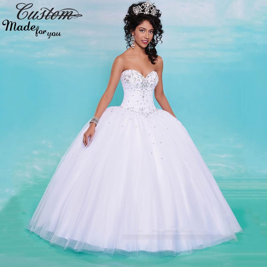 Cheap White Debutante Ball Gowns Tulle Sweet 16 Dresses 2016 for ...