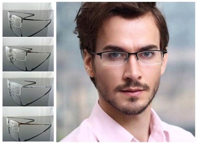 94b79ca745ca Men 8906 100% Pure luxury Titanium Eyeglass Frame Black Silver Gray Coffee Eyeglasses  Optical Glasses spectacles RX