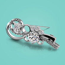 Female 925 sterling silver brooch noble zircon mosaic fashion design lady popular jewelry good quality solid