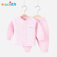 93bc56bdf Youqi bebé Niñas ropa invierno Bebé Niños ropa caliente ropa 3 6 9 M niños  Pijamas Niño Pantalones traje trajes chaqueta