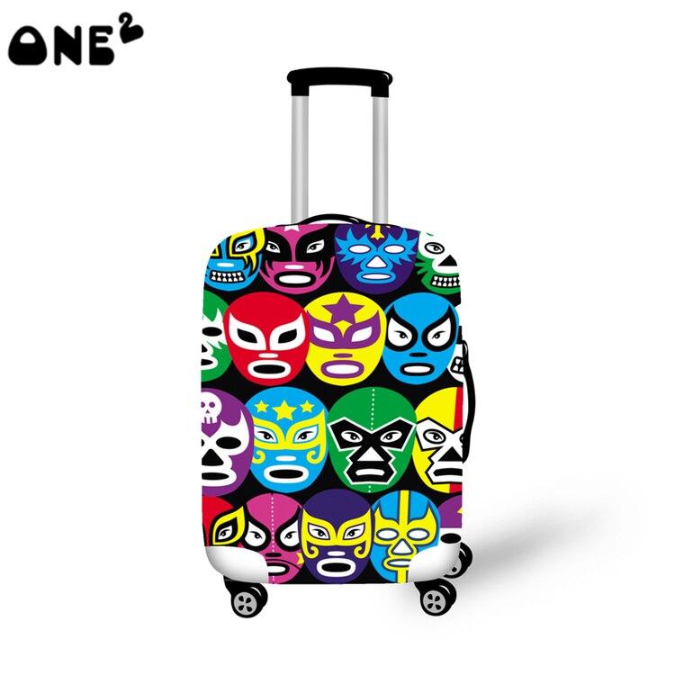 2016 ONE2 desain makeup wajah pencetakan pola penutup berlaku untuk 22,24, 26 inch koper wholeale nama merek bagasi penutup