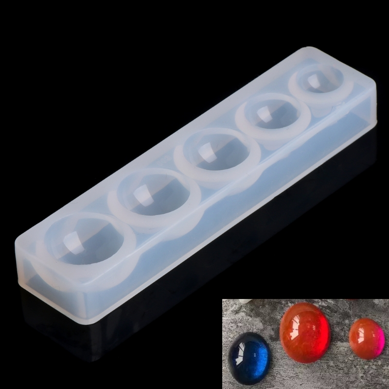New Round Cabochon Silicon Mold Resin Jewelry DIY Craft Necklace Pendant Mould Tools