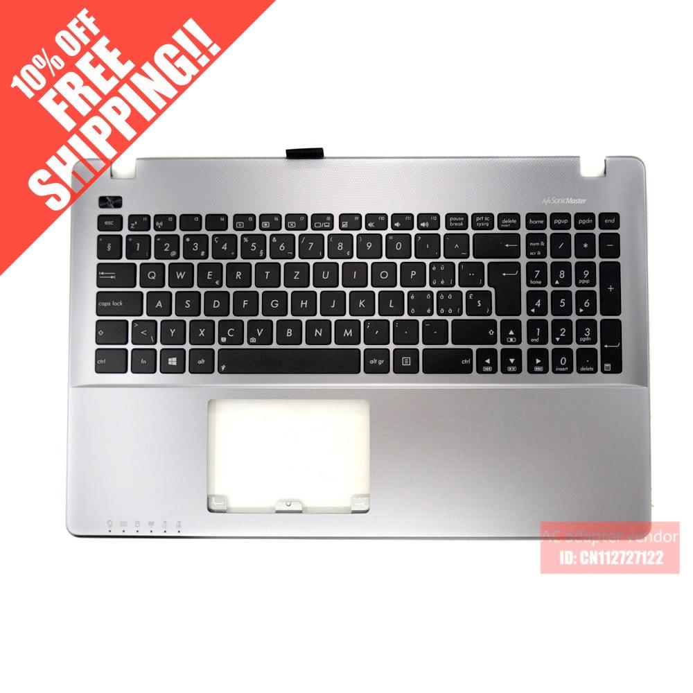 FOR ASUS X550 X552 X550ZE X550CA X550JD A550V R510V C shell palmrest with keyboard silver SW laptop palmrest