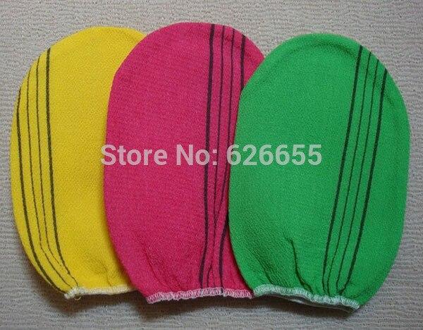 Free shipping 50 pcs/lot italy towel korea glove viscose scrub mitt body scrub glove kessa mitt exfoliating tan glove (normal)-in Household Gloves from Home & Garden    1