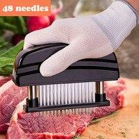 48 klingen Nadel Fleischklopfer Edelstahl Messer Fleisch Beaf Steak Mallet Fleischklopfer Hammer Pfünder Kochen Werkzeuge-in Fleischklopfer aus Heim und Garten bei