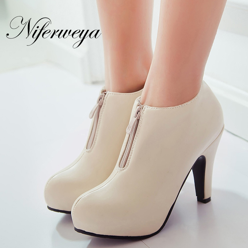 Big size 32 43 fashion winter women shoes sexy Round Toe ...