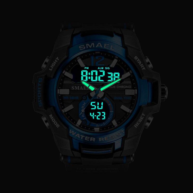 Men Watches SMAEL Sport Watch Waterproof 50M Wristwatch Relogio Masculino Militar 1805 Men's Clock Digital Military Army Watch 3