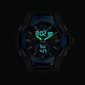 Image 4 - Men Watches SMAEL Sport Watch Waterproof 50M Wristwatch Relogio Masculino Militar 1805 Mens Clock Digital Military Army Watch