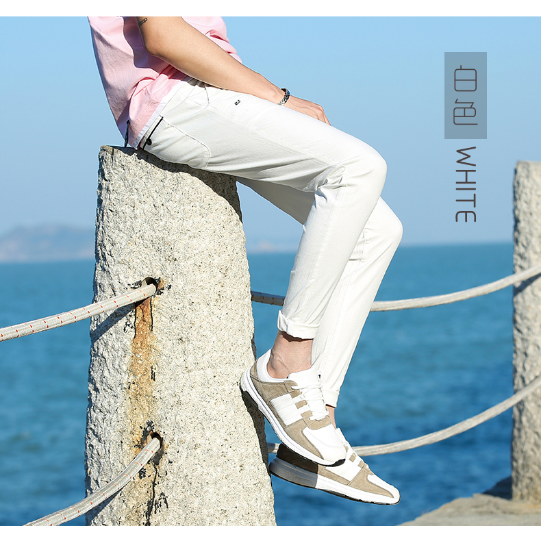 Casual Men Cotton Slim Fit Chinos Pants 7