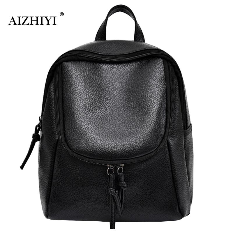 Women Backpacks Women's PU Leather Backpacks Female School Shoulder Bags Teenage Girls College Student Casual Bag Rucksack women backpack large school bags for teenage girls shoulder bag vintage pu leather backpacks black casual solid rucksack xa83h