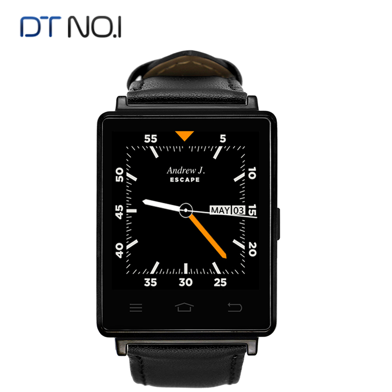 Dt n° 1 d6 3g smart watch android 5.1 1 gb + 8 gb mtk6580 Quad Core Smartwatch B