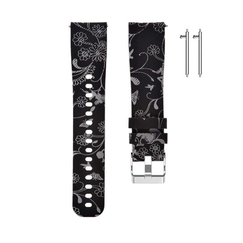 سيليكون استبدال حزام (استيك) ساعة حزام سوار للغارمين Vivoactive 3 لسامسونج والعتاد الرياضة S4 استبدال حزام (استيك) ساعة حزام