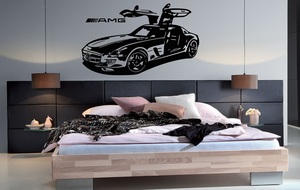 Image 1 - Super car vinyl wall stickers Sports car enthusiasts youth room shool dormitory home decoration wall decal 2CE16