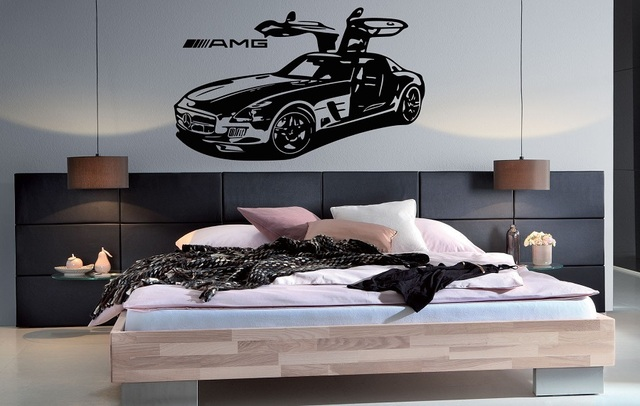 Super car vinyl wall stickers Sports car enthusiasts youth room shool dormitory home decoration wall decal 2CE16