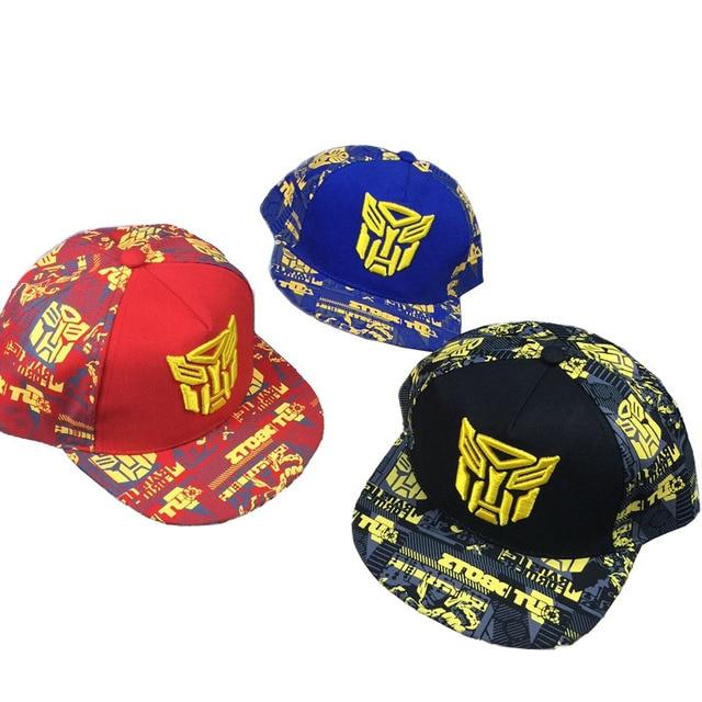Fashion Children s hat boys hip hop hat Transformers hat cap with along baseball  cap H0036 f35b08d6776
