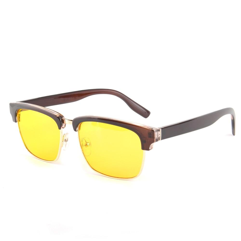 Gudzws Elektronische Brille Rahmen demi Blau Rechteckige Klassische Display Anti Objektiv black Schutz Unisex Brown Demi Rays Gelb Augen Von AOTrxAzq