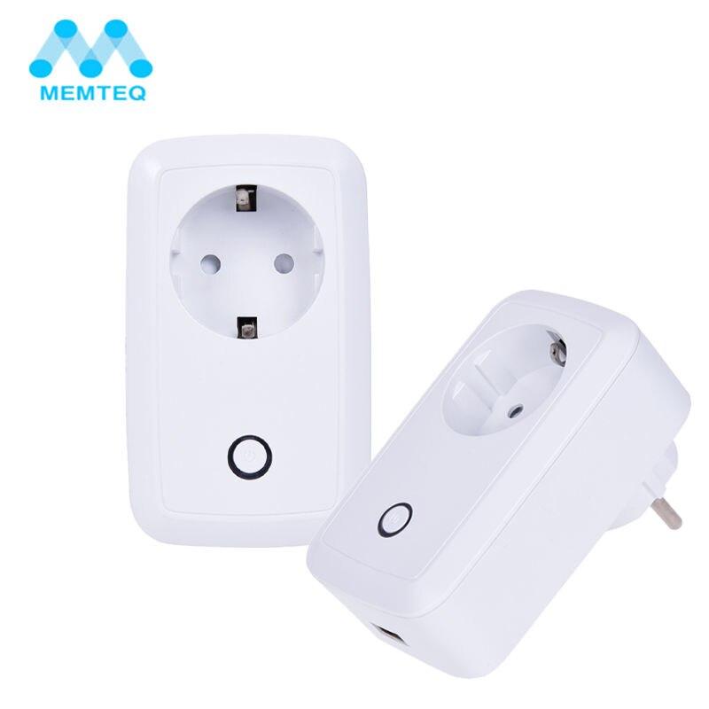 MEMTEQ Electrical Socket EU Plug 100 240V WIFI Smart Travel Adapter Socket USB Timer Socket For