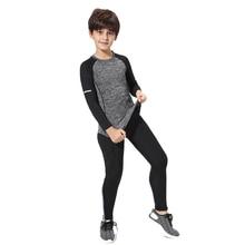 Kids sports suit >> Boy training quick-drying sportswear >>Children rashgard kit Girls Compressed Sports 2 Piece Set