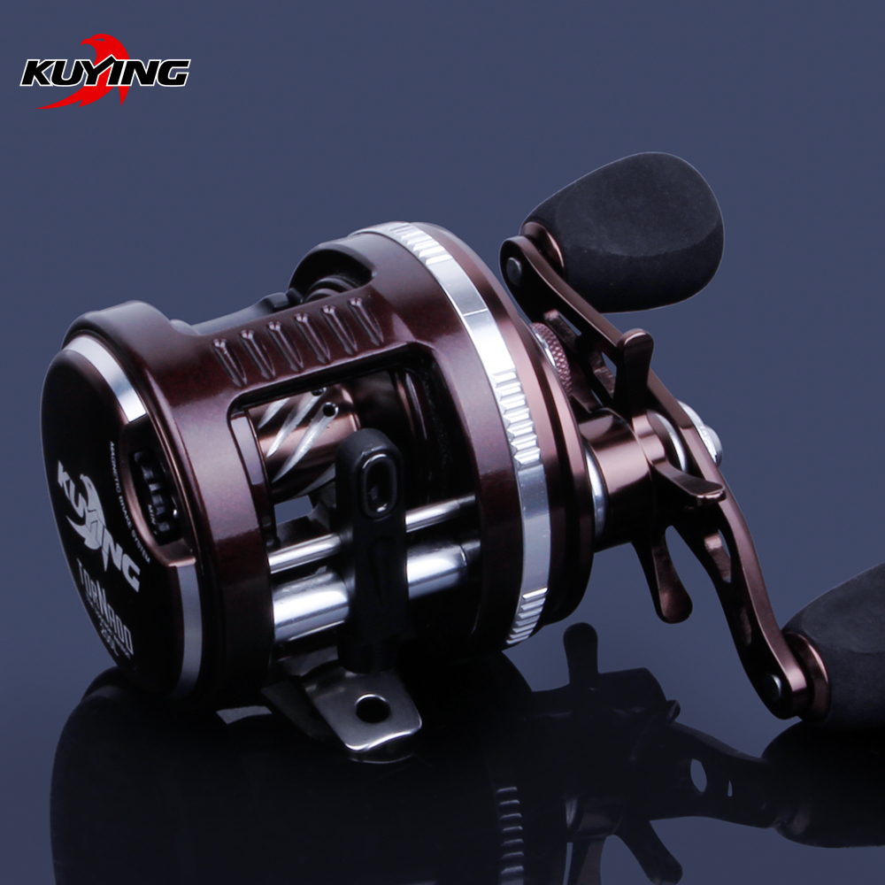 KUYING Tornado Left Right Handed Lure Bait Casting Fishing Reel Vessel 5.3:1 Drum Wheel Saltwater Fish Line Coil Free Shipping new 12bb left right handle drum saltwater fishing reel baitcasting saltwater sea fishing reels bait casting cast drum wheel