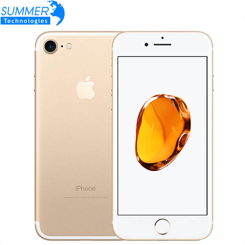 מקורי Apple iPhone 7 Quad-Core טלפון נייד 12.0MP מצלמה IOS LTE 4G טביעות אצבע בשימוש Smartphone title=