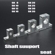 Горячая 1 шт. SK8 SK10 SK12 SK13 SK16 SK20 SH8A 8 мм Линейный шарикоподшипник рельсовый вал боковые блоки поддержка XYZ стол ЧПУ 3D принтер Часть