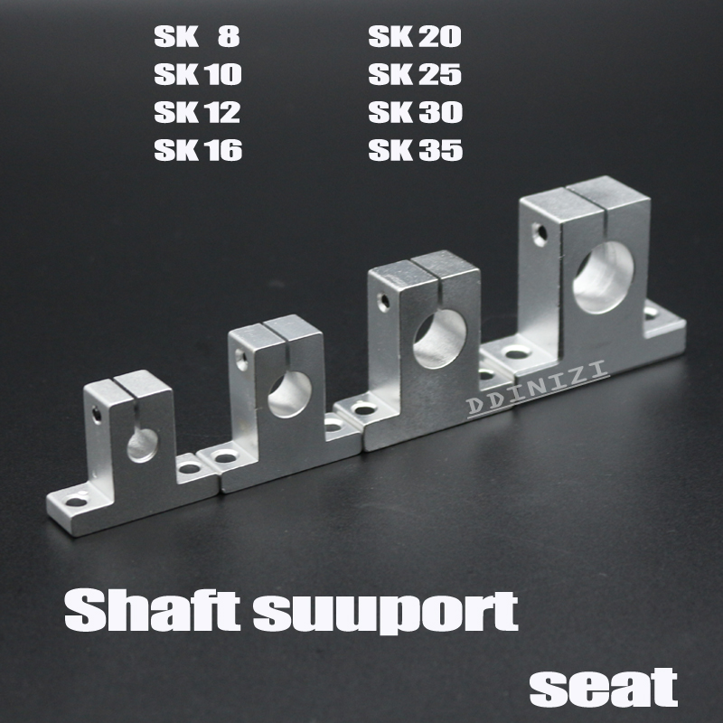 Hot 2pc Sk8 Sk10 Sk12 8mm Linear Ball Bearing Rail Shaft Side Blocks Support Xyz Table Cnc 3d Printer Part Computer & Office