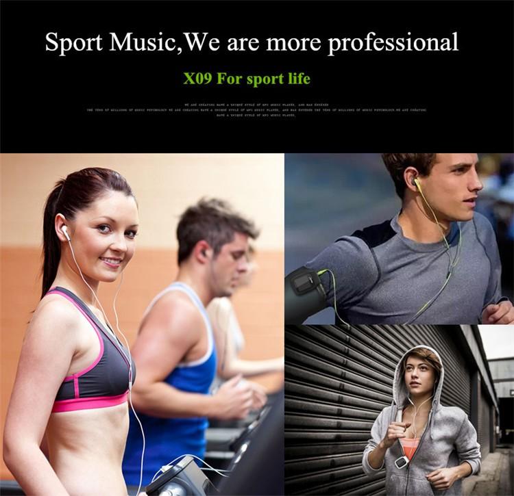 RUIZU X09 MINI MP3 Player Running Sports Clip Mp3 Walkman Support TF Card Music Player With 1.5 inch Screen E-Book Recording FM (8)