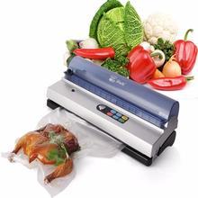 Полностью Автоматизированный вакуумный упаковщик пищевых продуктов, семейный вакуумный упаковщик, небольшая Коммерческая вакуумная упаковочная машина DZ-320D