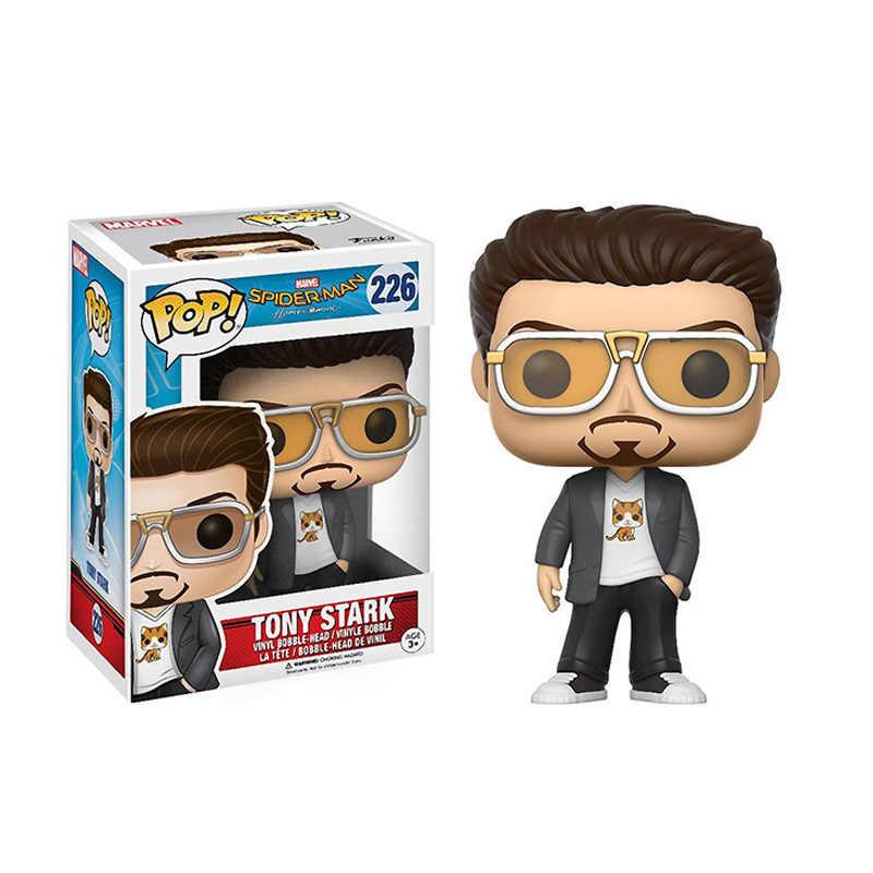 Funko pop Marvel Мстители: Endgame Тони Старк 226 # Виниловая фигурка Железный человек Коллекция Модель игрушки для детей Рождественский подарок