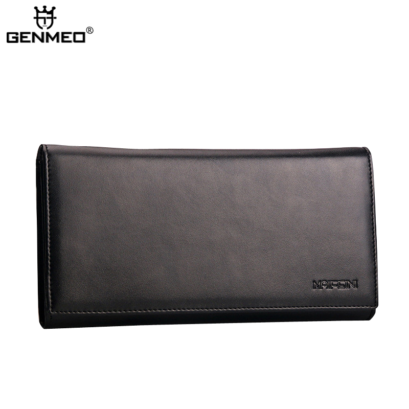 New Arrival Famous Design Brand Real Leather 3 Folds Wallets 2016 Fashion Genuine Leather Cards Holder