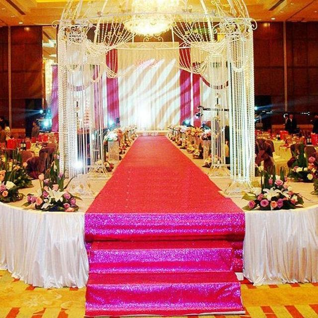 10 m roll 12m wide rose red pearlescent wedding decoration 10 m roll 12m wide rose red pearlescent wedding decoration carpet t station aisle junglespirit Choice Image