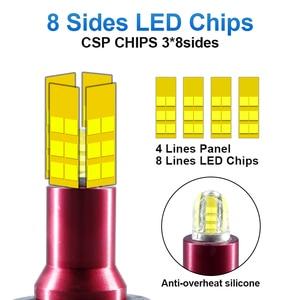 Image 2 - 8 taraf CSP h7 LED far HB3 9005 HB4 5202 H1 H3 H8 H11 sis lambası 880 881 H27 LED 9012 lamba yakın otomatik uzak 13500LM