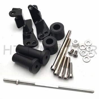 Aftermarket Free shipping motorcycle parts No Cut Frame Slider Protector For Suzuki  1999-2007  Hayabusa GSX1300R GSX-R BLACK