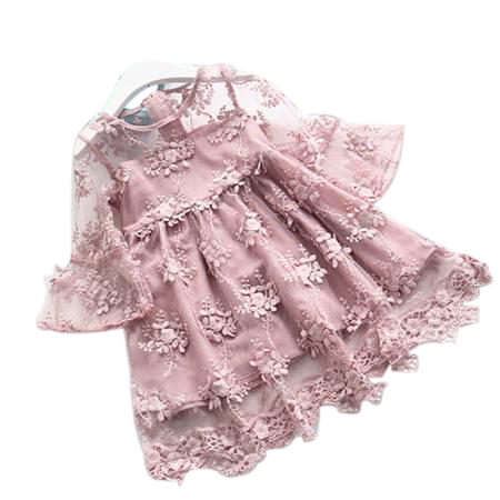 Elegant Girl Dress 2018 Summer Fashion Pink Lace Big Bow Party Tulle Flower Princess Wedding Dresses Baby Girl dress new high quality fashion excellent girl party dress with big lace bow color purple princess dresses for wedding and birthday