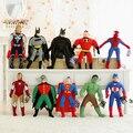 Venta al por mayor venta caliente Spiderman peluche de juguete, batman, superman, la alianza vengadores alta calidad de la felpa regalo navidad juguete