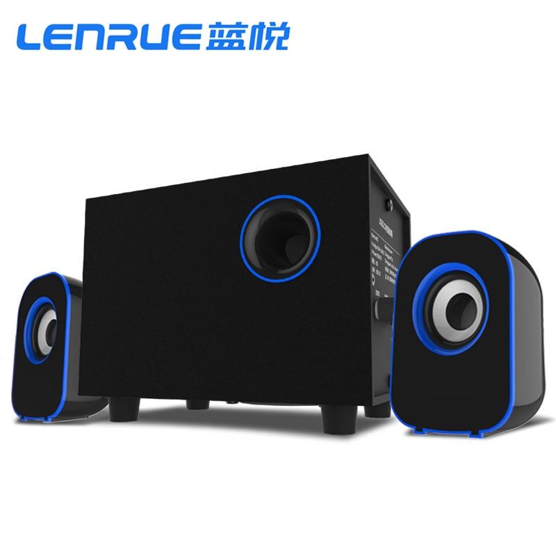 Surround Stereo Wooden Computer Speakers Home Theater Multimedia Combination Subwoofer USB Port 2.1 Laptop Desktop Loudspeaker